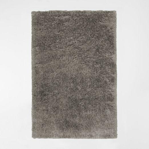 Steven Alan Solid Beige Wool Shag Rug