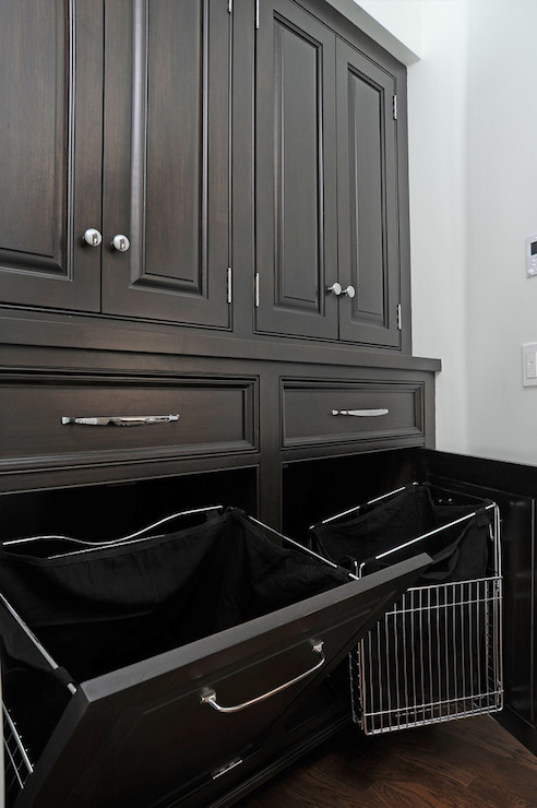 Pull Out Hamper Transitional Laundry Room Kelly Baron
