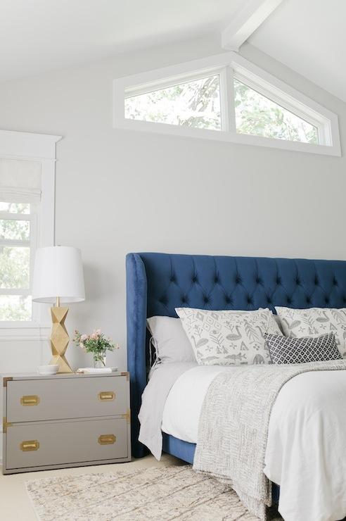Gray Nightstand Vintage Bedroom Sherwin Williams