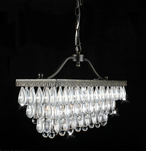 Linear Crystal Chandelier - Look 4 Less and Steals and Deals.