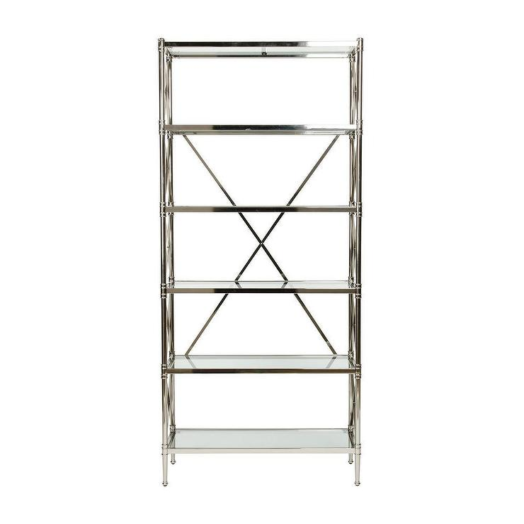 Jocelyn Polished Nickel 5 Shelf Etagere