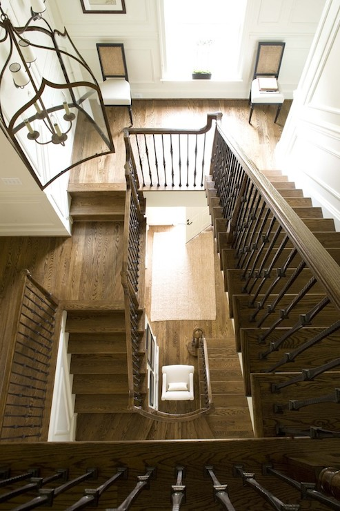 3 Story Staircase Traditional Entrance Foyer Dream