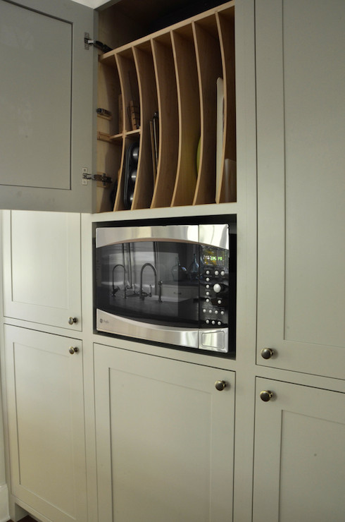 Pan Storage Transitional Kitchen Benjamin Moore
