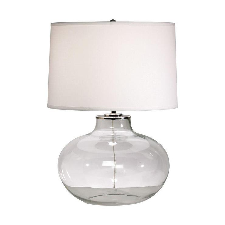 Large Onion Jar Glass Table Lamp