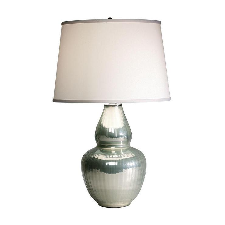 Gourd Seafoam Green Table Lamp
