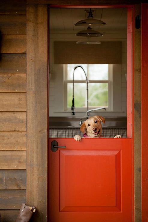 Red Dutch Door & Red Dutch Door - Country - kitchen - The Design Atelier