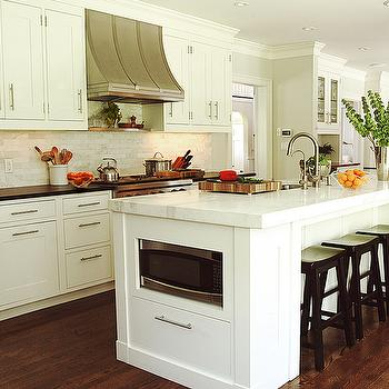 Gray Center Island Transitional Kitchen Dunn Edwards Silver Spoon Cynthia Marks Interiors