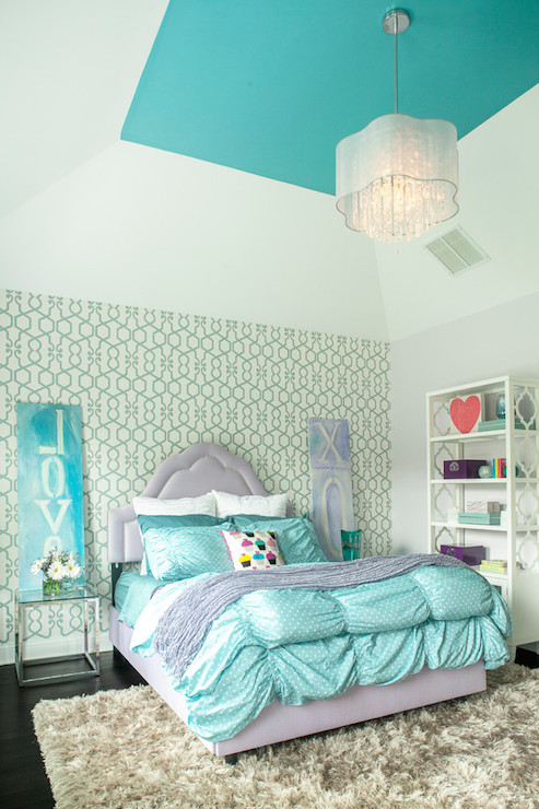 purple and turquoise bedroom ideas turquoise ceiling contemporary s room benjamin 19543