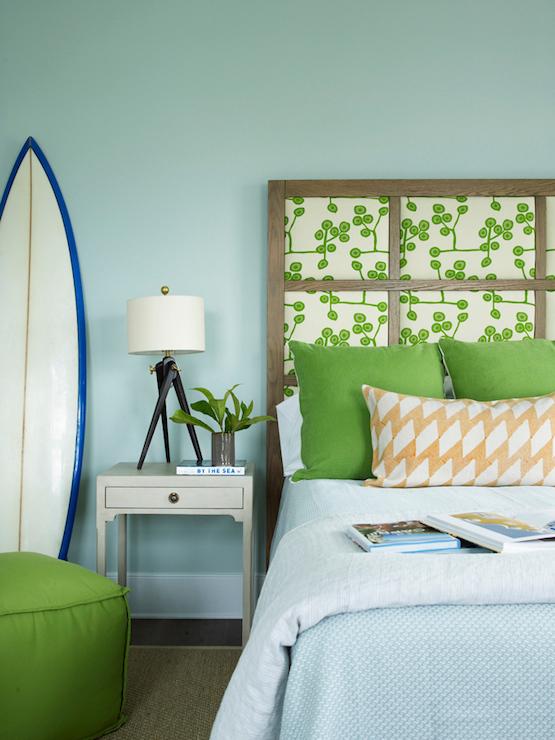 Paneled Headboard Cottage Boy 39 S Room Sherwin Williams Rainwashed Coastal Living
