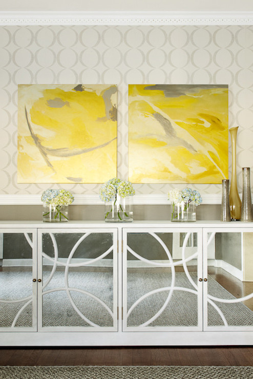 Mirrored Buffet Cabinet - Contemporary - dining room - Karen B Wolf ...