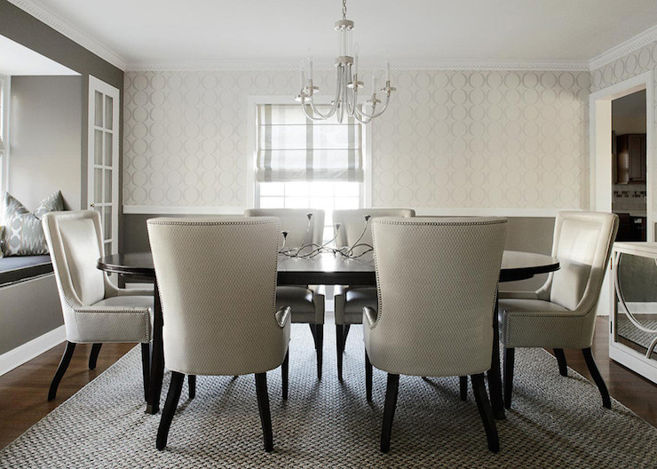 White And Gray Dining Room  Contemporary  Dining Room