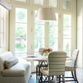 Gray Herringbone Floor, Contemporary, dining room, The Design Atelier