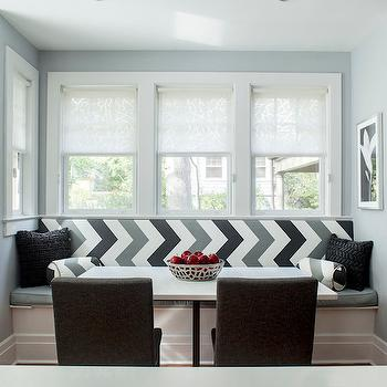 Dining Banquette Ideas, Contemporary, dining room, Karen B Wolf Interiors