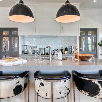 Cowhide Barstools, Contemporary, kitchen, Willey Design