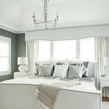 White and Gray Bedroom, Transitional, bedroom, Karen B Wolf Interiors