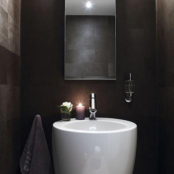 Small Powder Room, Modern, bathroom