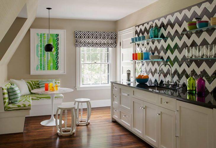 Chevron Tiles Contemporary Dining Room Liz Caan