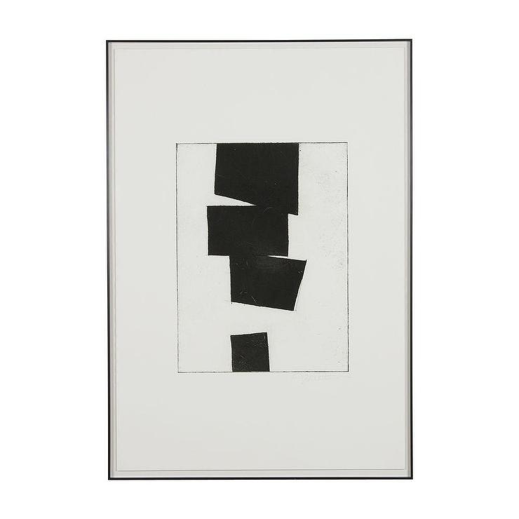 Modern Abstract l Black and White Art