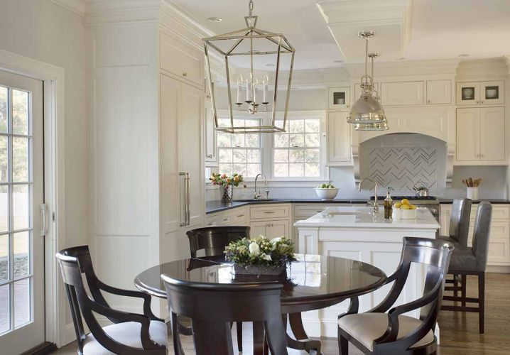 Darlana Medium Lantern Transitional Kitchen Liz Caan Interiors