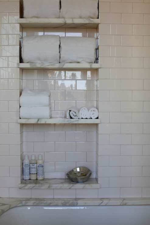 Amazing Mosaic Tile In Bathroom Shower Shelf Nook