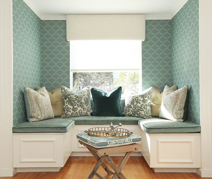 Built In Banquette Cottage Dining Room Jenn Feldman Designs