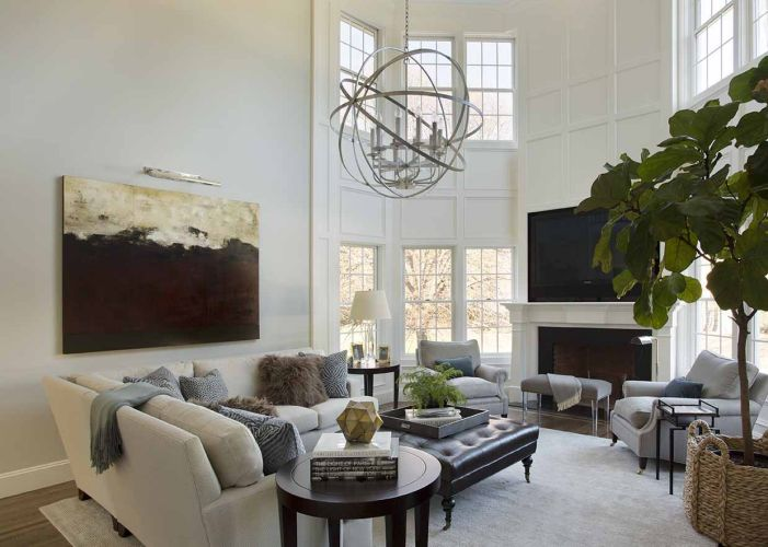 2 story living room transitional living room liz Two story living room decorating ideas