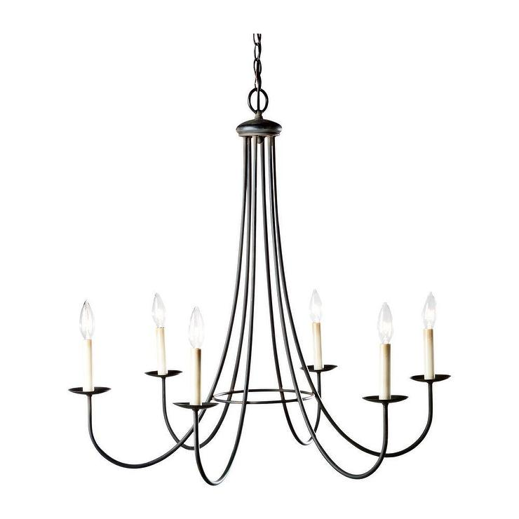 Six light iron candelabra chandelier - Lighting and chandeliers ...