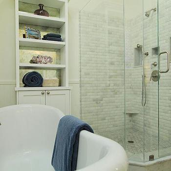 Corner Shower, Transitional, bathroom, Jenn Feldman Designs
