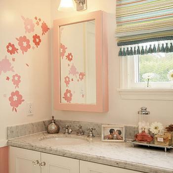 Pink Medicine Cabinet, Transitional, bathroom, Jenn Feldman Designs