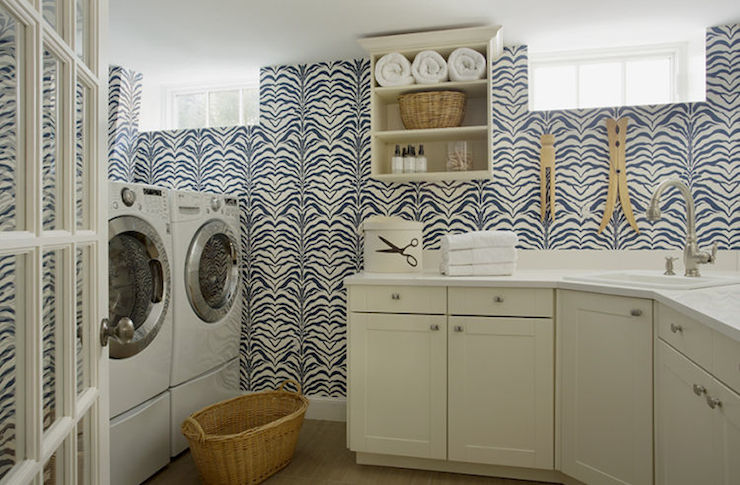 Laundry Room Wallpaper New Wallpaper For Laundry Rooms  Contemporary  Laundry Room  Liz Design Ideas