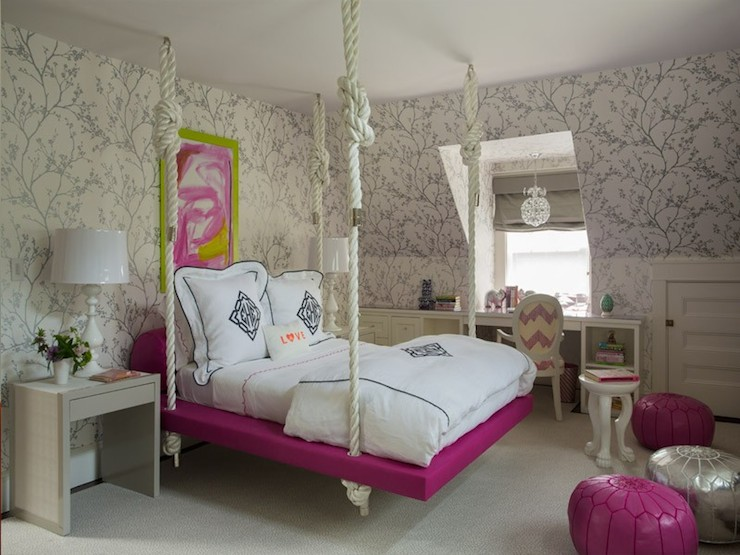Interior design inspiration photos by liz caan interiors for Suspended beds for kids