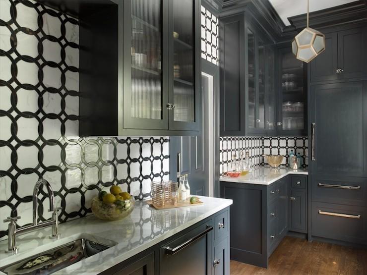 Black And White Kitchen Contemporary Kitchen Liz