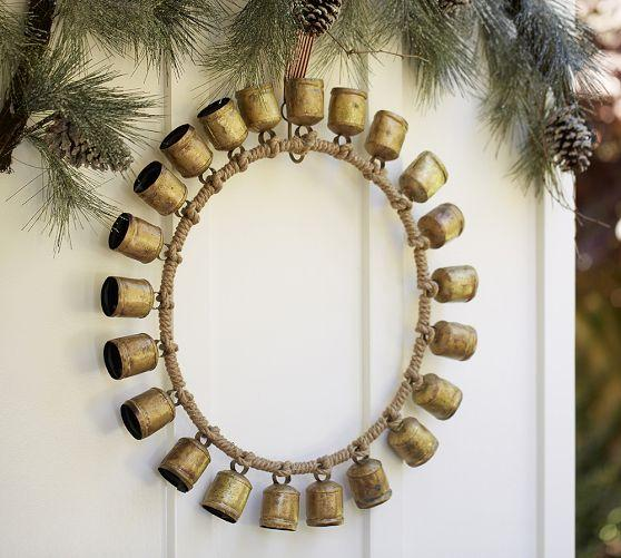 Antique Gold Laurel Metal Wreath