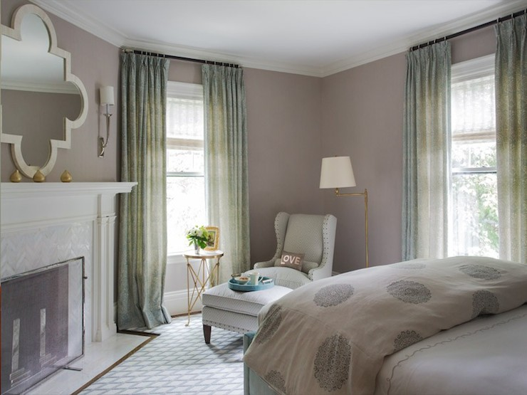 Corner Fireplace Transitional Bedroom Liz Caan Interiors