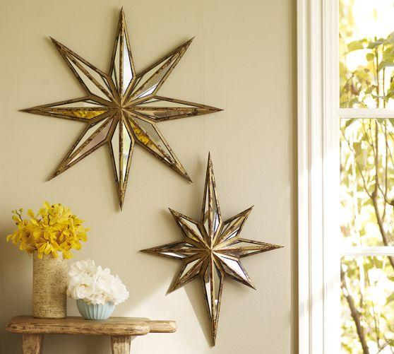 Decorative wall antique star mirror - Stars for walls decorating ...