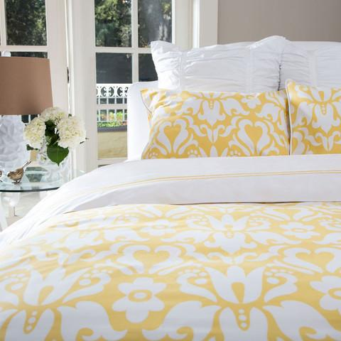 The Montgomery Yellow Duvet Set Crane Amp Canopy