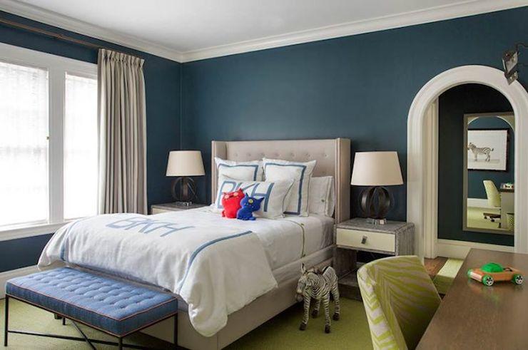 Peacock Blue Walls Contemporary Boy 39 S Room Liz Caan