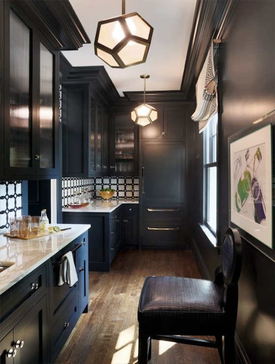 Black And White Kitchen Contemporary Kitchen Liz