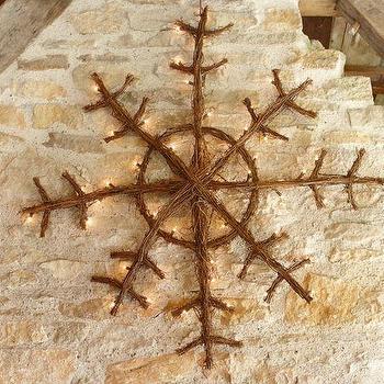 Lit Twig Snowflakes, Pottery Barn
