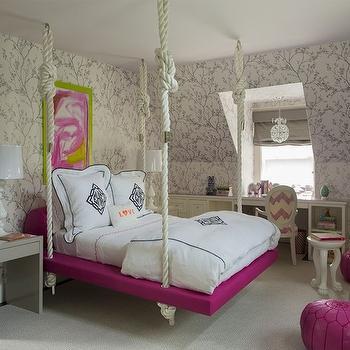Kids Hanging Bed, Contemporary, girl's room, Liz Caan Interiors