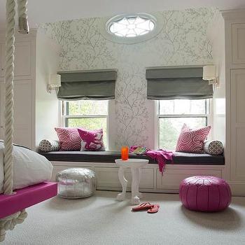 Kids Window Seat, Contemporary, girl's room, Liz Caan Interiors