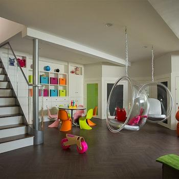 Basement Playroom, Contemporary, basement, Liz Caan Interiors