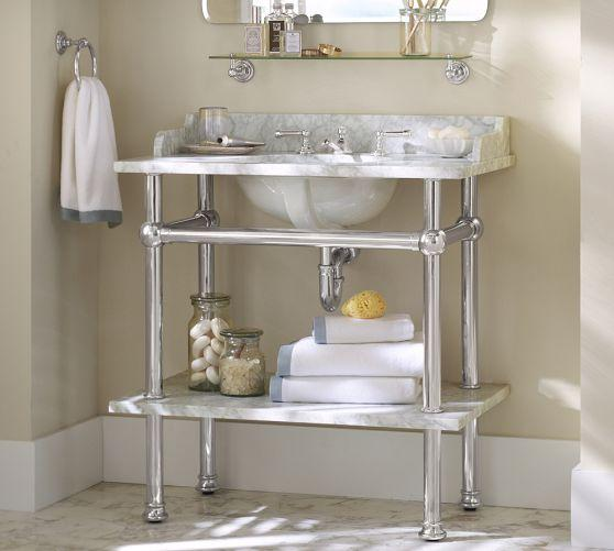 steel sink empire milano shelf p console south ceramic beach for with vanity stainless industries