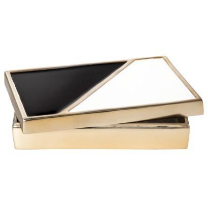 Black And White Decorative Boxes Entrancing Berkus Modern Black White And Gold Enameled Decorative Box Inspiration Design
