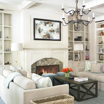 Fireplace with Built In Cabinets, Contemporary, living room, The Design Atelier