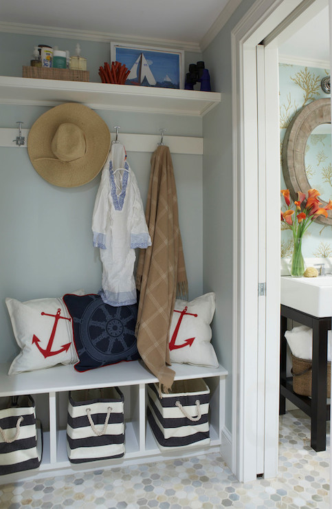 Coastal Mudroom Cottage Laundry Room Rachel Reider