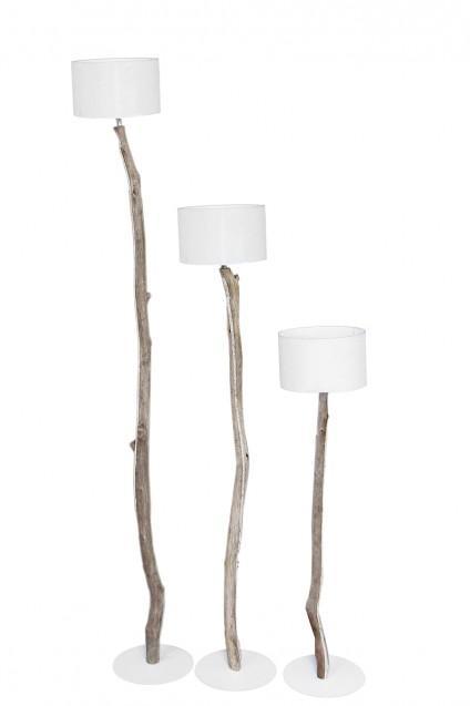 Mystique Set Of 3 Driftwood Floor Lamps