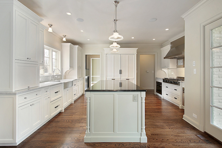 White Kitchen Cabinets - Traditional - kitchen - Robert ...
