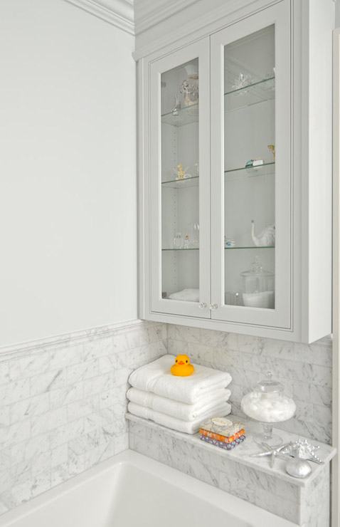 Shower Shelf Transitional Bathroom Emily Hollis
