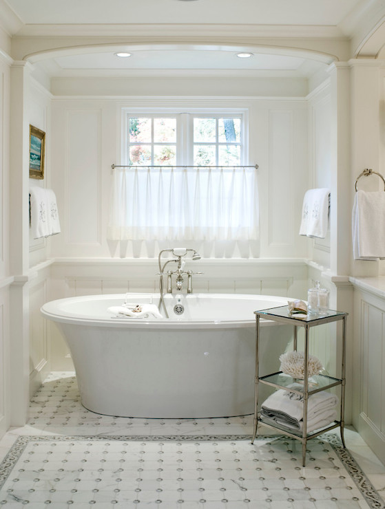 bathtub in alcove transitional bathroom benjamin